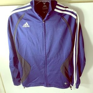 Adidas FullZip Workout Hoodie Soccer embroidery S
